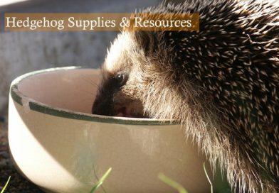 Hedgehog Supplies & Resources photo by Ronny Satzke