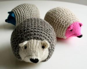 knit hedgehog tutorial